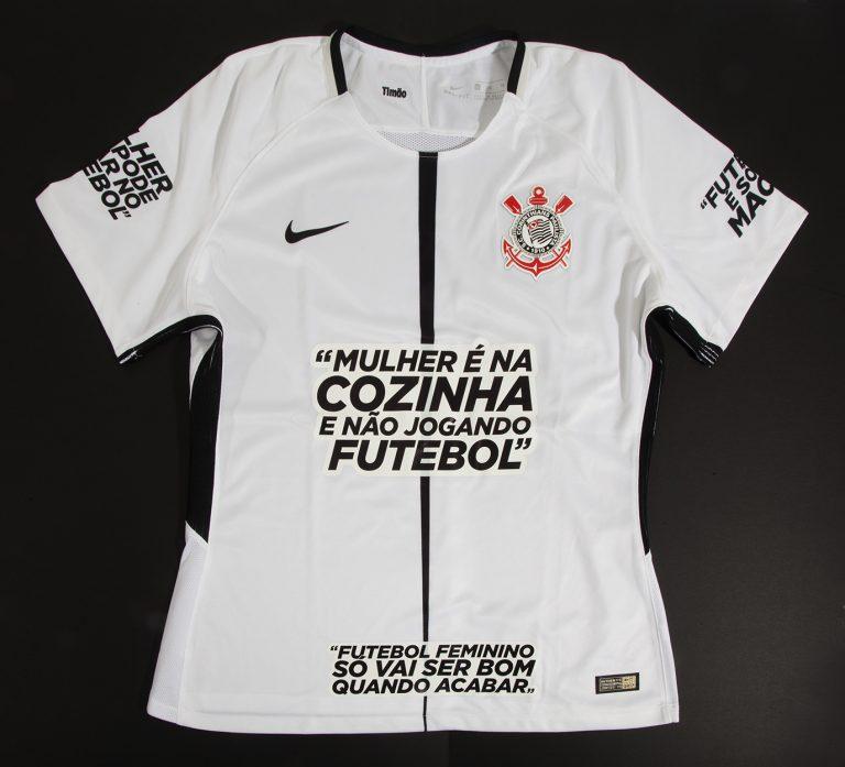 Camisa da equipe feminina do Corinthians parte da campanha   CaleOPreconceito (Divulgação) 91650ae1e3269