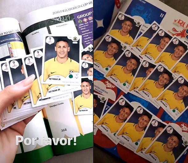 e412a36ec1 Bruna Marquezine posta álbum com figurinhas só de Neymar