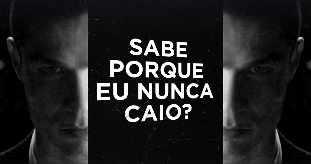 Reprodução do vídeo com Cristiano Ronaldo em alusão a Neymar