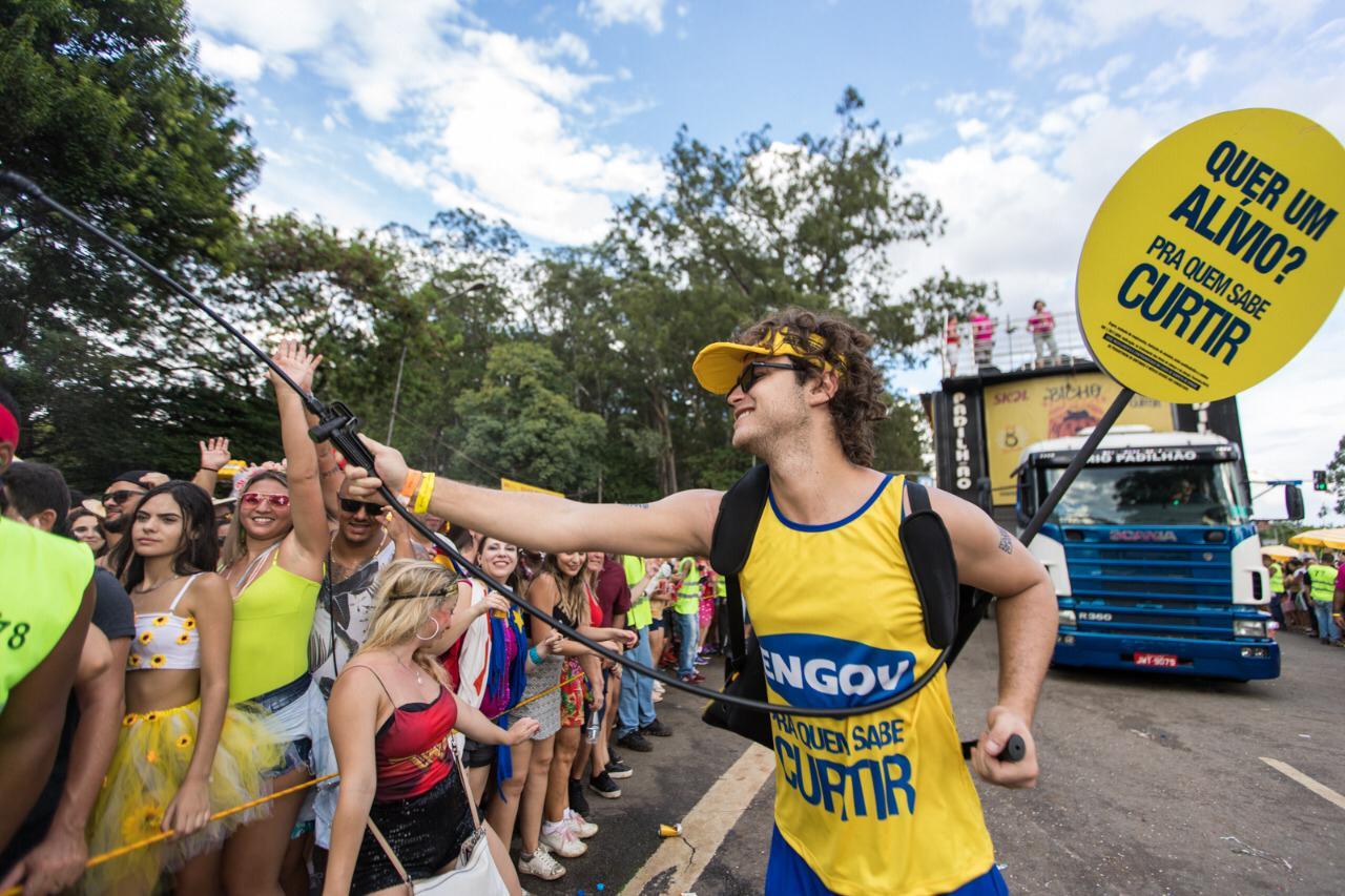 Foliões durante trio do Monobloco em SP; Engov aposta em Carnaval para reforçar novo slogan (Divulgação)