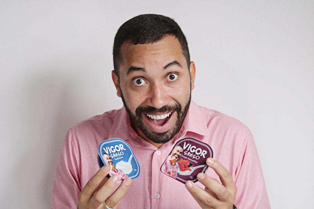 Após BBB, Gil vira Gil da Vigor em ação da marca de iogurtes (Divulgação)